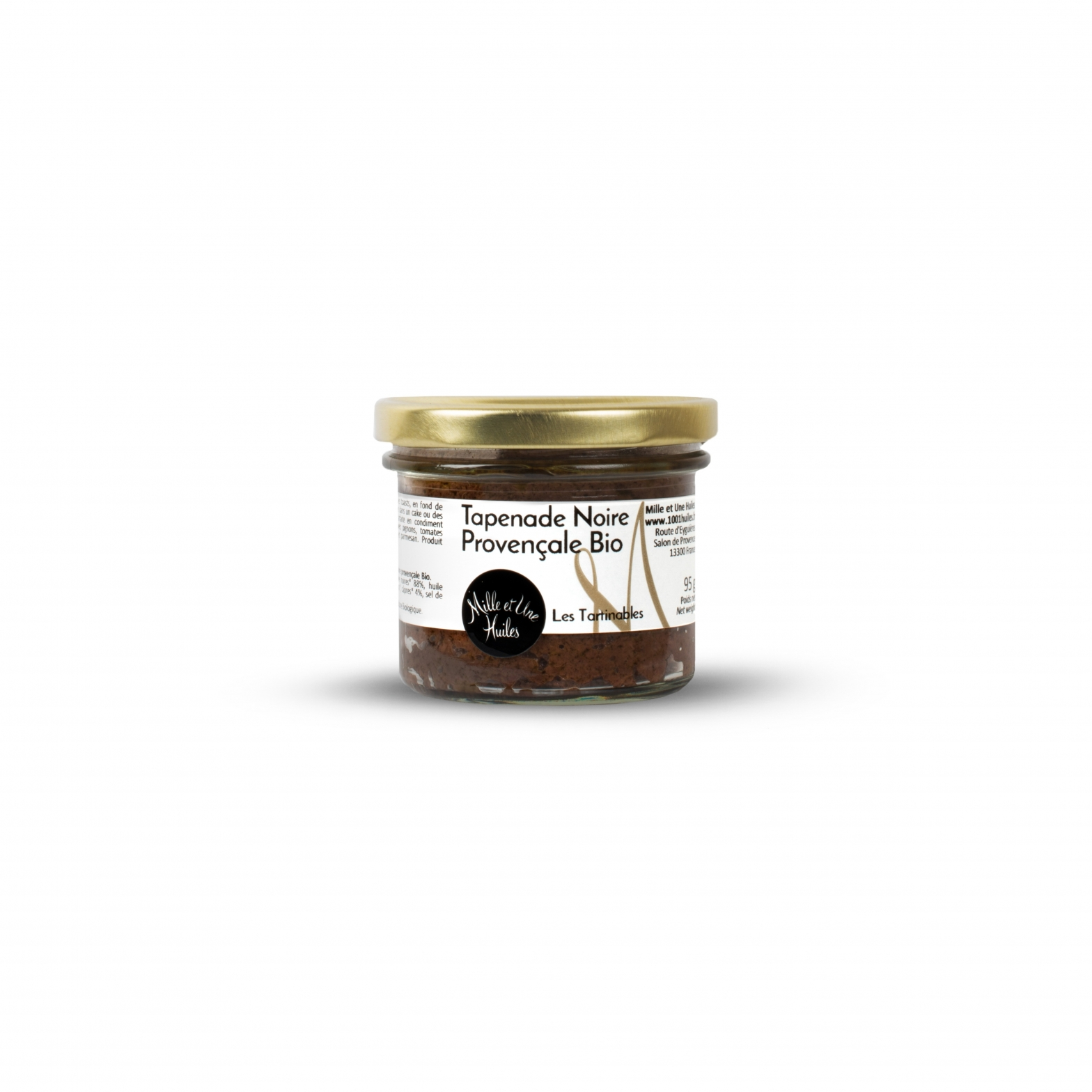 Organic black tapenade (black olive spread with capers)