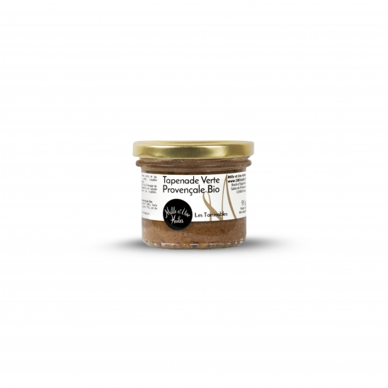 Organic green tapenade (green olive spread with capers)