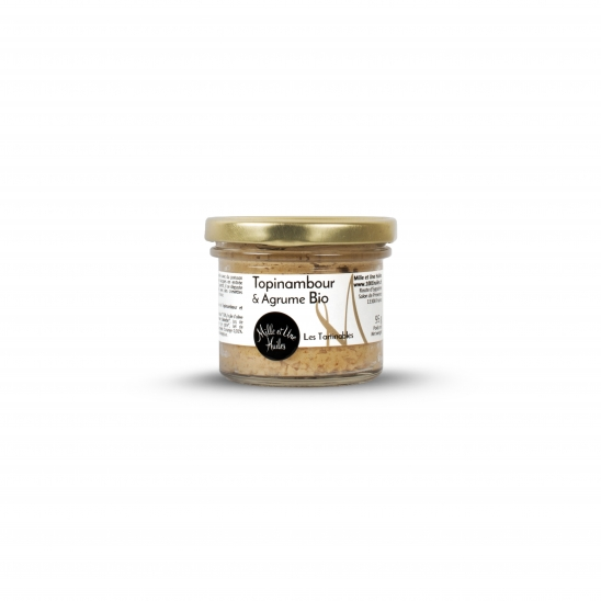 Jerusalem artichoke and citrus fruits spread, organic