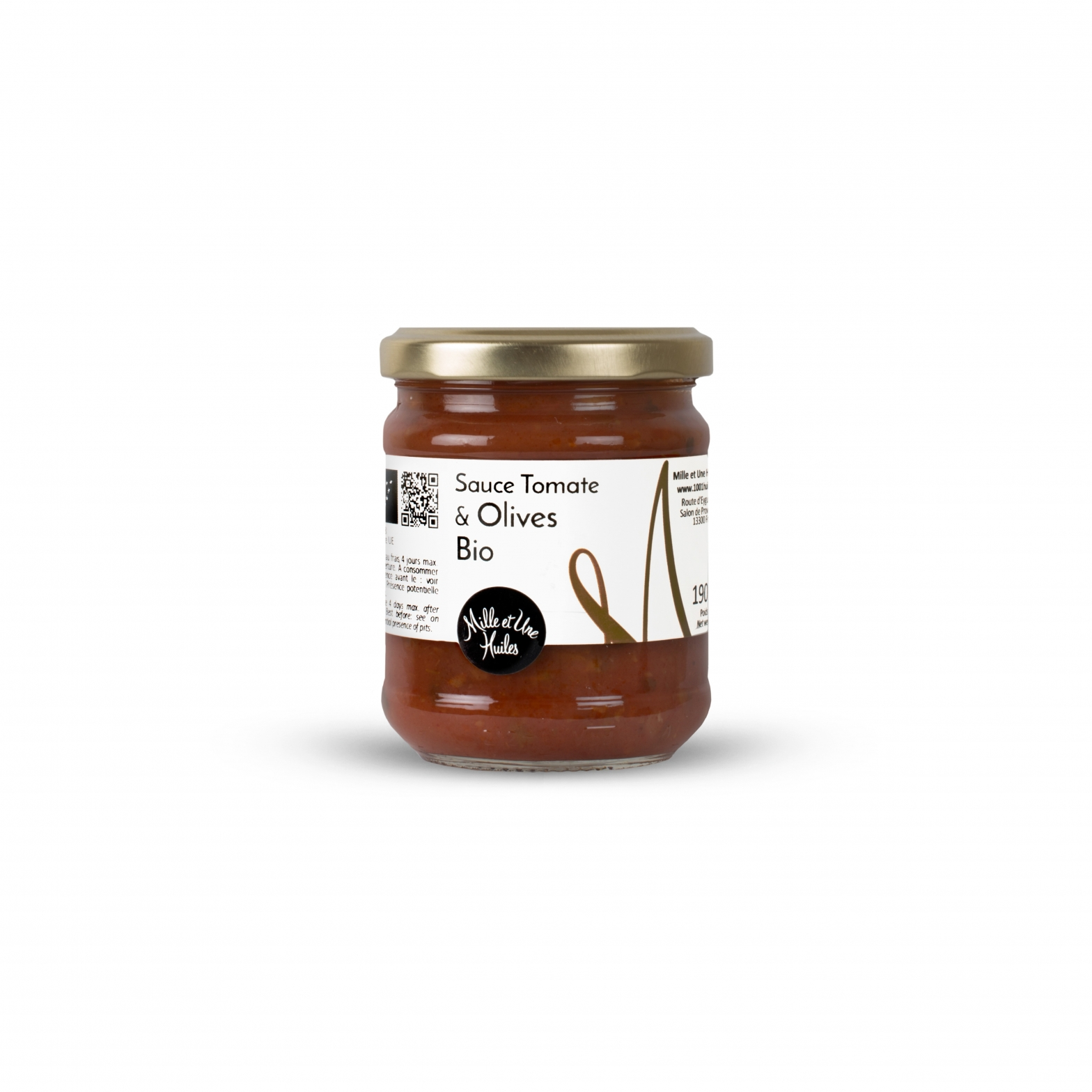 Sauce Tomate Bio aux Olives