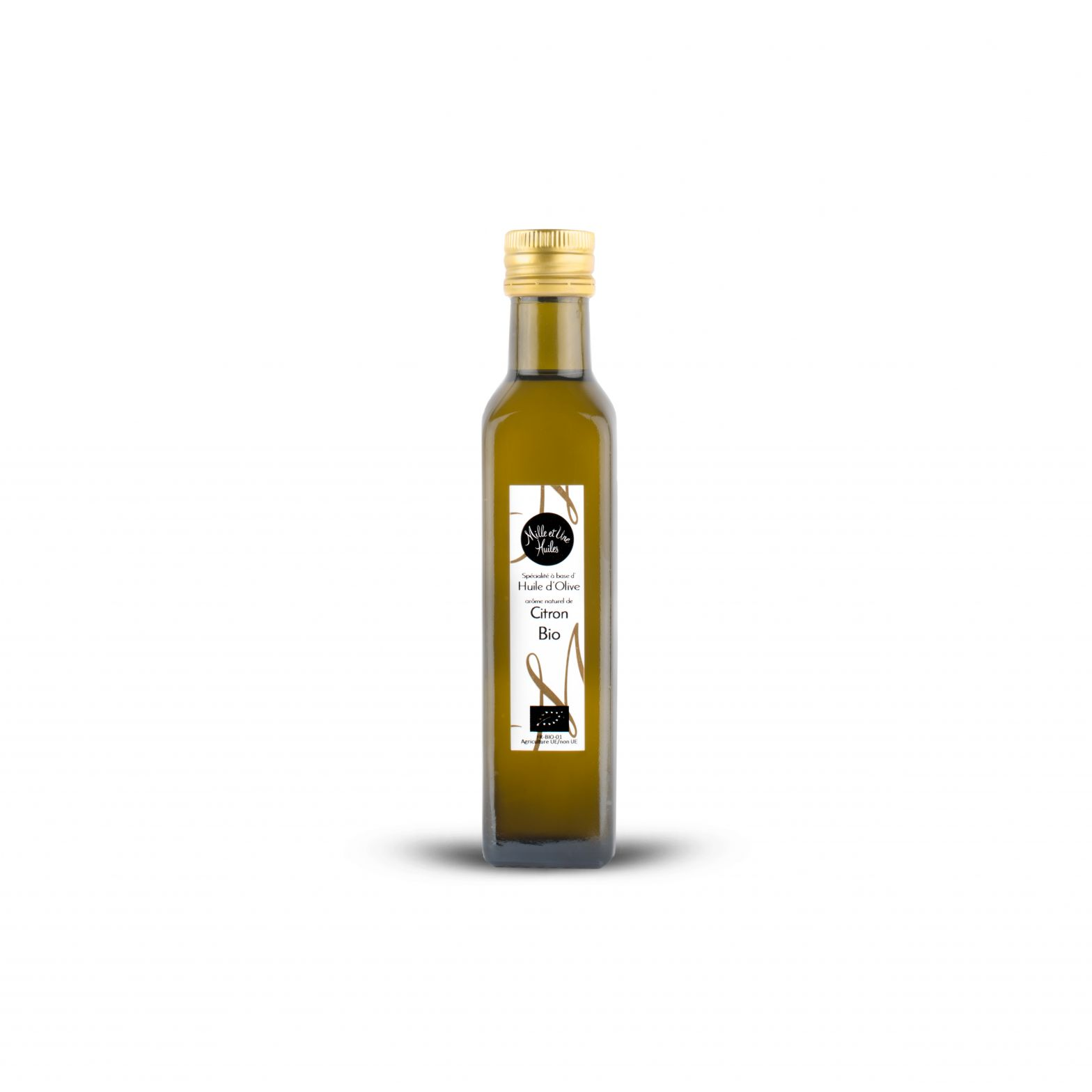 Lemon-flavoured olive oil dressing, organic