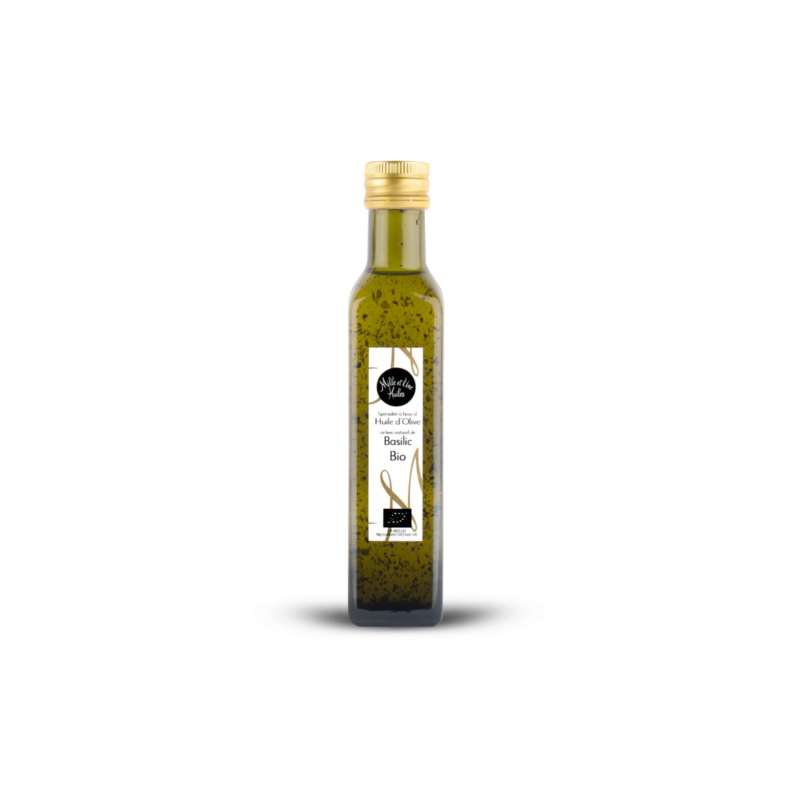 Basil-flavoured olive oil dressing, organic