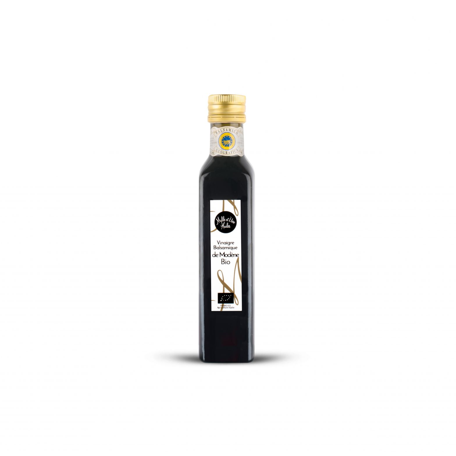 Organic condiment made from balsamic vinegar from Modena
