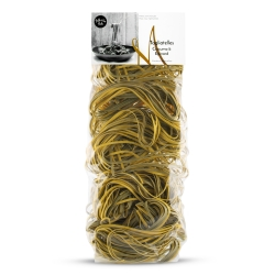 Spinach and turmeric tagliatelles